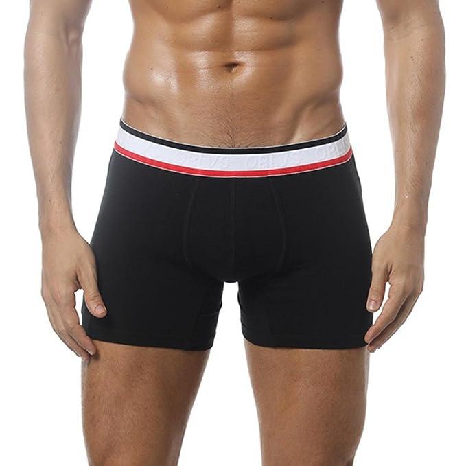 Btruely Herren Calzoncillos Bóxer Ropa Interior Sexy Ultra Suave Versión con Dobladillo - Cuecas Boxer