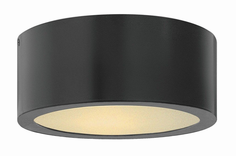 Hinkley 1665SK Contemporary Modern One Light Outdoor Flush Mount from Luna collection in Blackfinish,