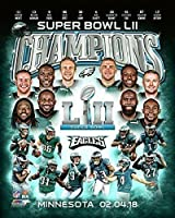 Philadelphia Eagles Super Bowl 52 Champions Collage 8x10 Photo, Picture