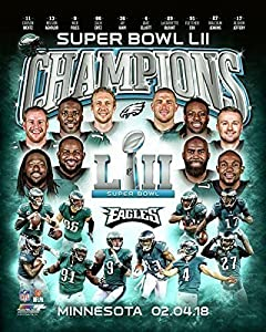 Philadelphia Eagles Super Bowl 52 Champions Collage 8x10 Photo, Picture