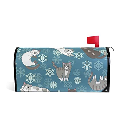 Amazon.com: Senuu Snowflake Cat Kitten Magnetic Mailbox ...
