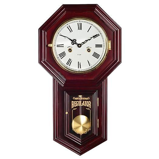 HENSE Chiming Regulator Mechanical WindUp Clocks Wall Clock with