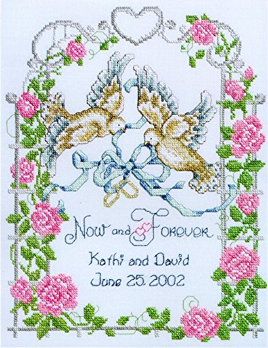 Janlynn Stamped Cross Stitch Kit Wedding Doves Stamped kit