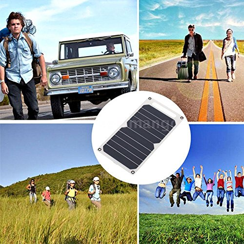 Solar Charger 10W Ultra Thin Silicon Panel 5V USB Camping Traveling H7U6