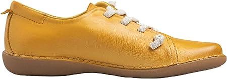 Chacal Shoes - Zapatillas de Cuero para Mujer - máximo Confort - Zapatos Deportivos de Cuero 100% - Cordones elásticos - Fácil Calzado - Zapatillas de Mujer para Verano - EU 36 a EU 41