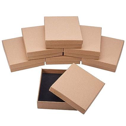BENECREAT 8 Pack Cajas de Cartón para Joyeria, Elegante Caja de Regalo Rectángulo y Tamaño