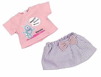 Azul Falda Y Casual Amazon Camiseta Rosa Ropita Set esNenuco Con Tc31lKFJ