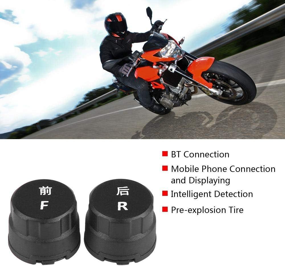 syst/ème de Surveillance de la temp/érature de la Pression des pneus TPMS BT pour iOS//Android avec capteur de pneus EBTOOLS Syst/ème de Surveillance de la Pression des pneus Bluetooth