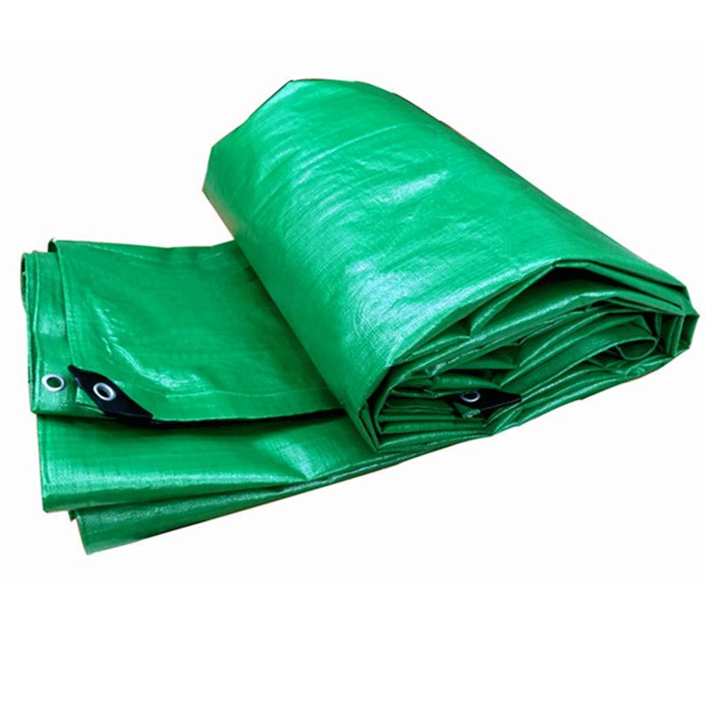 JLZS-Tarpaulin Verdicken LKW-Plane Wasserdichtes Tuch Wasserdichte Sonnencreme Auto Blaume Öl Tuch Plane Winddichtem Kunststoff gewebt Tuch (Farbe   Grün, größe   8  10)