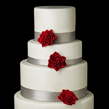 Amazon Com Red Rose Bud Flower Wedding Cake Decorators Beauty