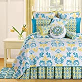 C&F Home Delilah Quilt, King, Blue/Yellow