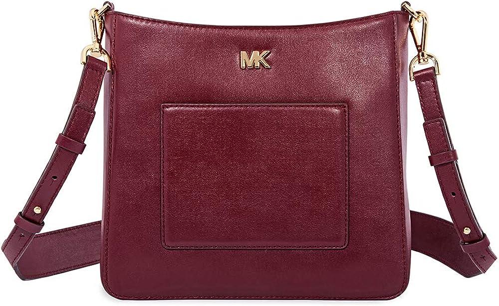 Michael Kors Gloria Leather Messenger Bag – Oxblood