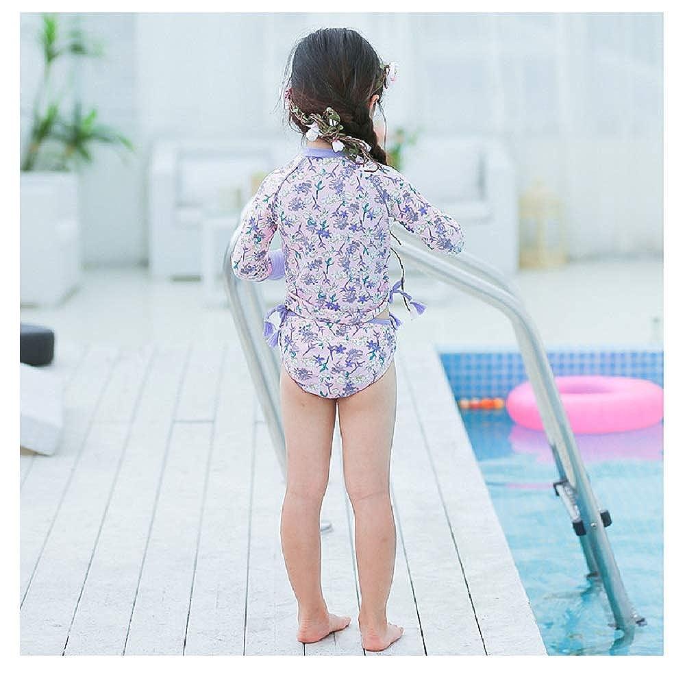 Jingle Bongala Toddler Little Girls Two Piece Rashguard Set Long Sleeve Swimsuit 2-8 Years UPF 50 UV