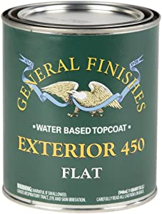 General Finishes Exterior 450 Water Based Topcoat, 1 Quart, Flat