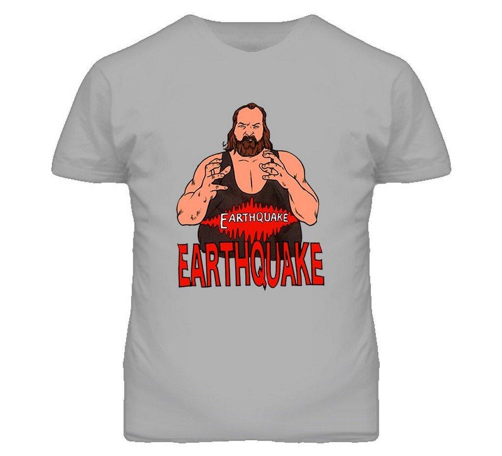 Earthquake Retro Wrestling T Shirt M Sport Grey