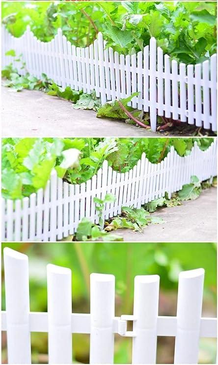 Recinzioni Plastica Per Giardino.Takestop Set 3 Pezzi Recinzione Recinzioni Steccato Decorativa In