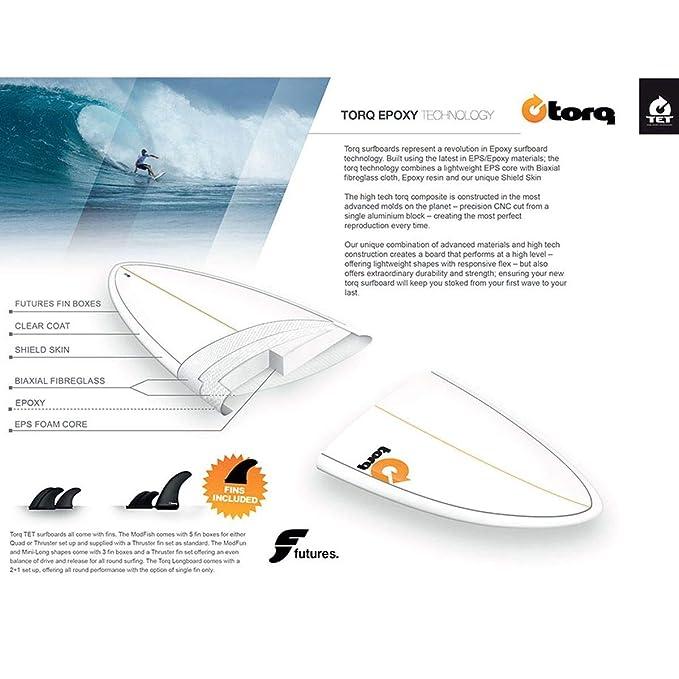 Tabla de Surf Torq epoxy Tet 7.2 FUN Board Lines: Amazon.es: Deportes y aire libre