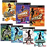 Dance Dance Revolution Game and Song Bundle for Sony Playstation 2, 7 Game DDR PS2 Set with Over 500 Songs in DDR Extreme, DDR Extreme 2, DDR Supernova, DDR Supernova 2, DDR Max, DDR Max 2, and DDR X