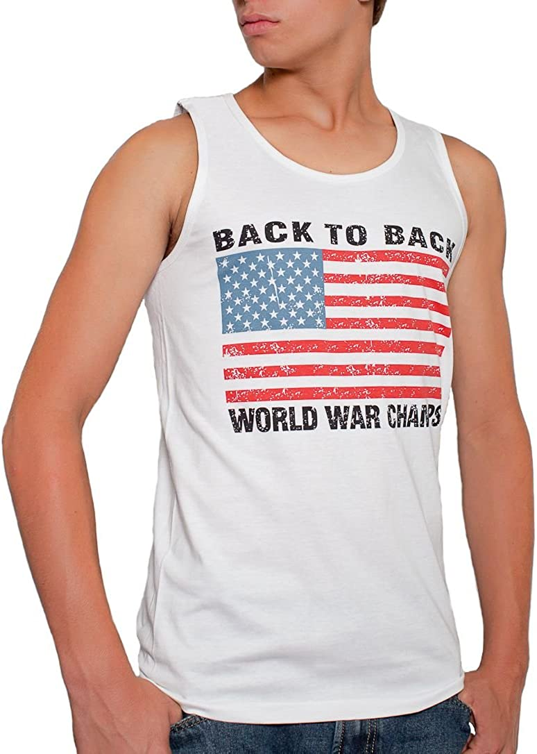 Back To Back World War Champs Rowdy Gentleman Tank Top Grey