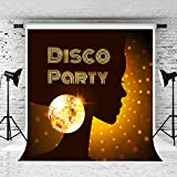 Kate 10x10ft 70s Disco Photography Backdrop for Party Photo Studio Glitter Stage Light Background Prop Customized