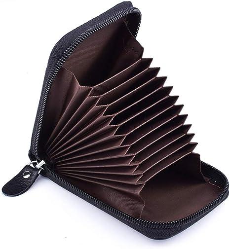 Protezione RFID Blocco Premium Portafoglio pelle nera borsa titolare della carta di credito