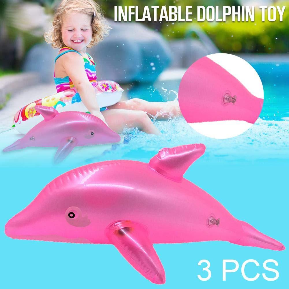 MondayUp - 3 Piezas hinchables de PVC, Forma de delfín, Juguete ...