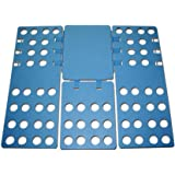 Efivs Arts Turnover Clothes/T-Shirt Folding Board Laundry Folder Fast-Blue