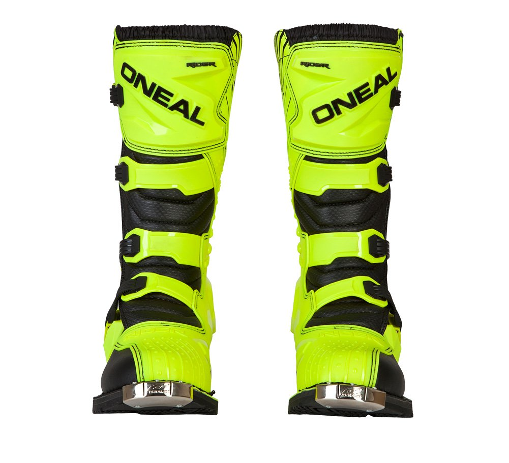 O'Neal 0324-809 Rider Black/Hi-Viz 9 Rider Boots 9 by O'Neal