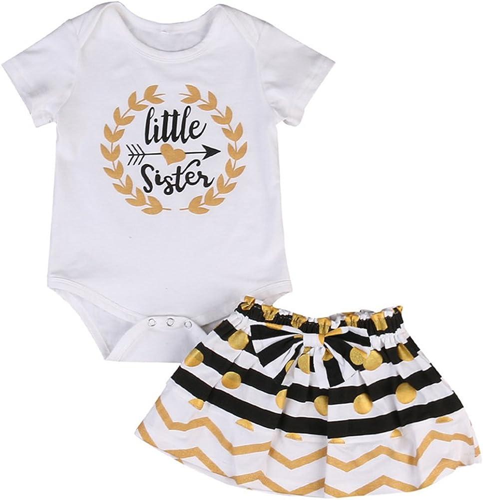 HBER - Juego de faldas y camisetas de verano para hermanas y 2 a 7 ...