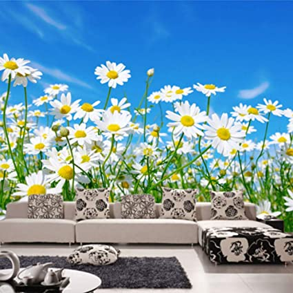 Flowers Personalised Name Wall Art Mural Decal Daisy Sticker