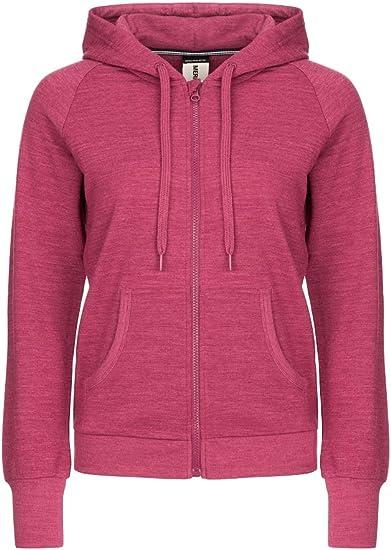 super.natural wygodna damska kurtka z kapturem, z wełny merynosÓw, W Essential Zip Hoodie: Odzież