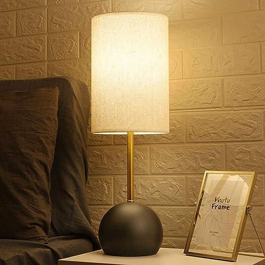 Lyuez Lámpara de mesa táctil Dormitorio simple Lámpara de ...