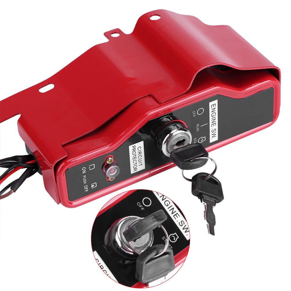 Ignition Switch Box Asixx Ignition Key Switch Box Electric Ignition Switch Box with 2 Keys for Honda GX390 13HP GX340 11HP 168F GX160 Gas Engine