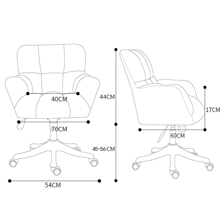 Datorstol, hemmakontor stol ergonomisk, svängbar stol med justerbar höjd, sminkstol för hemmakontor vardagsrum gRÖN