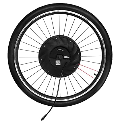 "6471be29633 Image Unavailable. Image not available for. Colour: Tooarts 26"" *  1.95"" Front Wheel Electric Bicycle V Brake Hub Motor Kit 36V"