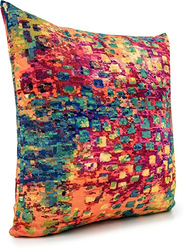 Abstract 18 inch by 18 inch (Square) Barcelona Multi Home Decor Accent Pillow - Barcelona Square