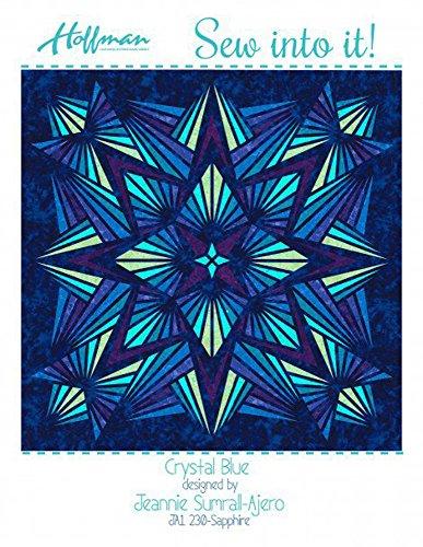 Bali Batiks 1895 Crystal Blue Quilt Kit Hoffman Fabrics JAKIT-230-Sapphire by Hoffman Fabrics