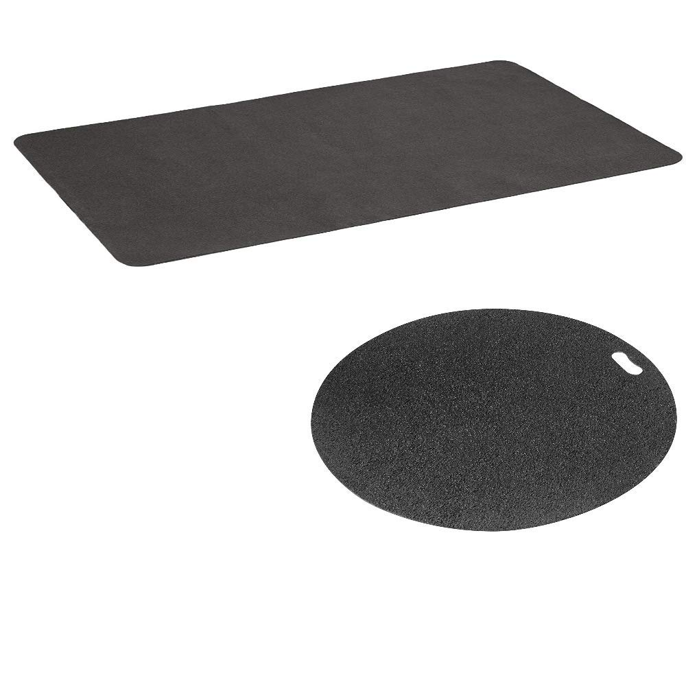 Diversitech Outdoor Gas Grill BBQ Floor Mat & BBQ Floor Mat - Protects Decks and Patios Bundle