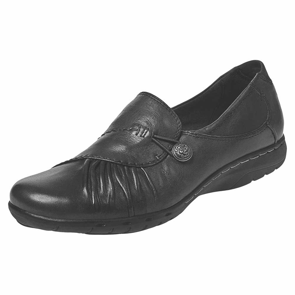 Rockport Cobb Hill Collection Womens Cobb Hill Paulette Black 7 EE US EE Extra Wide RP-182