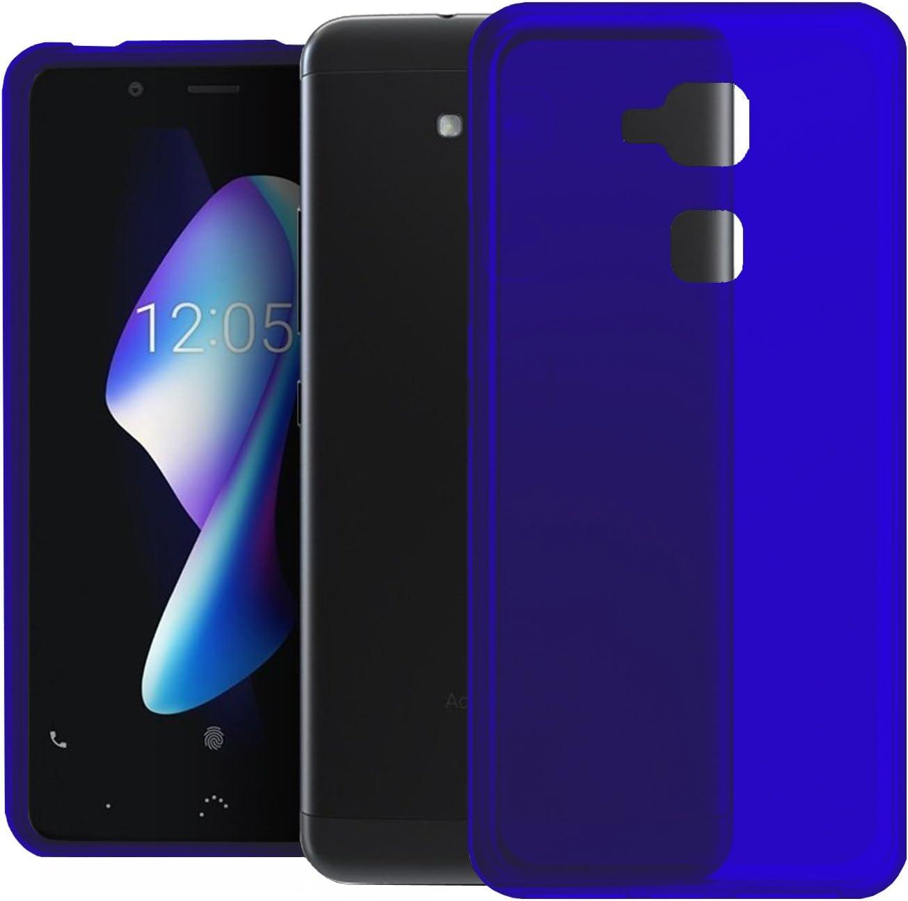 TBOC® Funda de Gel TPU Azul para bq Aquaris V (5.2 Pulgadas) de Silicona Ultrafina y Flexible (No es Compatible con el bq Aquaris V Plus de 5.5 Pulgadas): Amazon.es: Electrónica