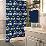 SAN DIEGO CHARGERS NFL SHOWER CURTAIN by Northwest