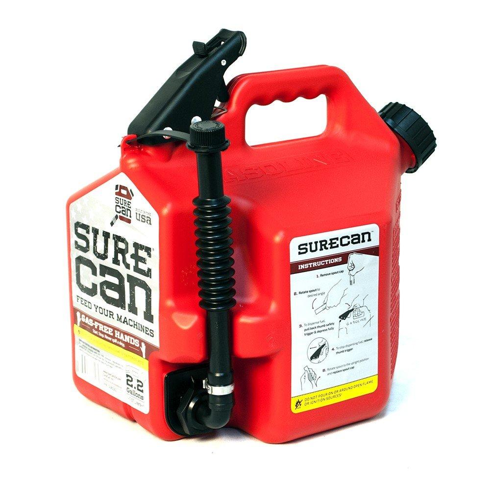 SureCan Fuel Gas Can, 2.2 Gallons by Surecan