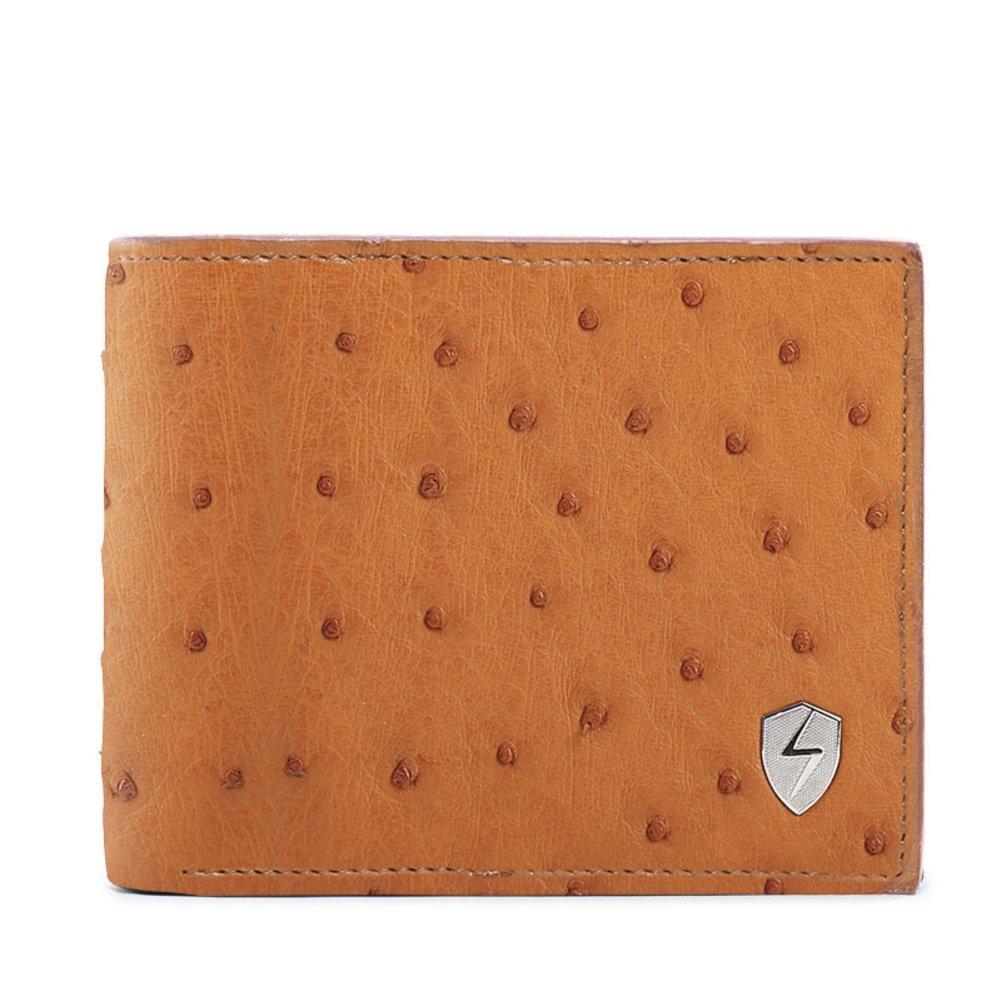 Rfid Blocking Genuine Leather Wallet Men Excellent Travel Credit Card Case Wallets Protector Money-D 12x10cm(5x4inch)
