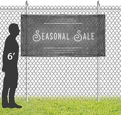 12x4 Basic Black Wind-Resistant Outdoor Mesh Vinyl Banner CGSignLab Open 24 Hours