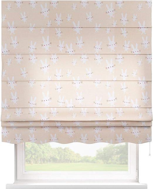 Dekoria Florence - Estor (80 x 170 cm), diseño de Conejos Blancos ...