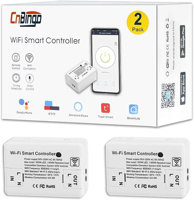 2er Pack Cnbingo Wifi Wlan Schalter Mini Modul Funkschalter Für Die Meisten Geräte Smart Light Schalter Arbeiten Mit Alexa Google Home Smart Life App Für Fernbedienung Neutralleiter Wird Benötigt Baumarkt