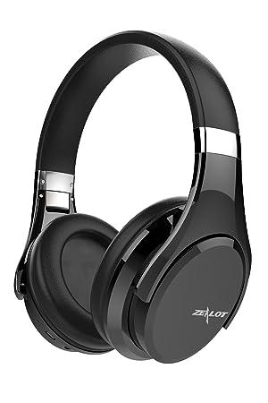 Zealot B21 auriculares Bluetooth bajo estéreo, control de graves táctil set de auriculares inalámbricos con micrófono plegable, para iPhone 7, ...