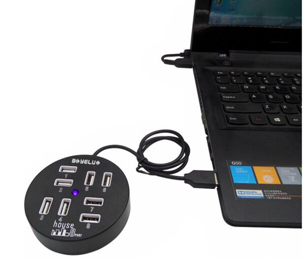 1port Charging 8 USB2.0 Splitter High-speed Expansion of a Drag Converter HUB 7port USB2.0