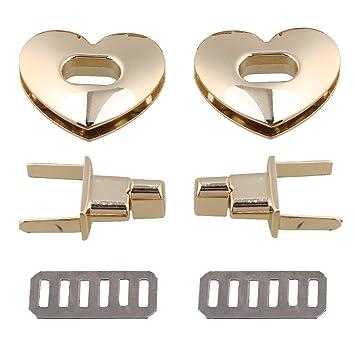 Turnlock Leather Craft Purse Bag Clasp Latch Closure Heart Love Purse Twist Lock