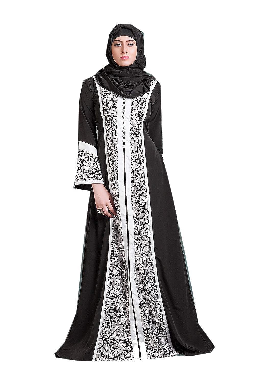 Black, White 30 Da Facioun Indian Women Designer Latest Fancy Party Wear Heavy Kaftan